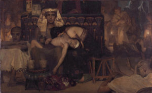 Death of the Pharaoh's firstborn  *oil on canvas  *77 x 124.5 cm  *signed: L. Alma Tadema  *1872