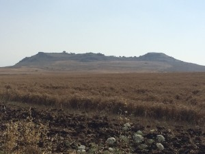The Horns of Hattin. The fields in front are where the battle most likely took place