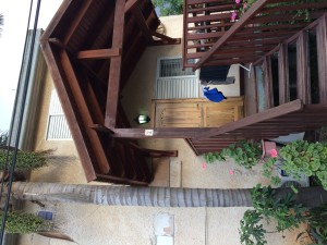 Our apartment at the Shavit Family Guesthouse in Moshav Arbel (highly recommended!)