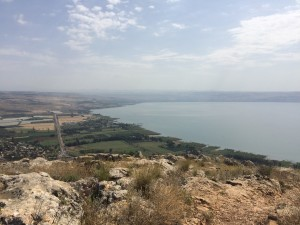 The view from the top of Mount Arbel