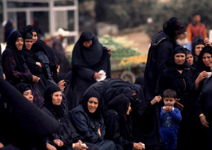 Professional mourners at funeral in Egyptian capital of Cairo.