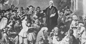 "John Wesley ""submitting to be more vile"" by preaching in fields."